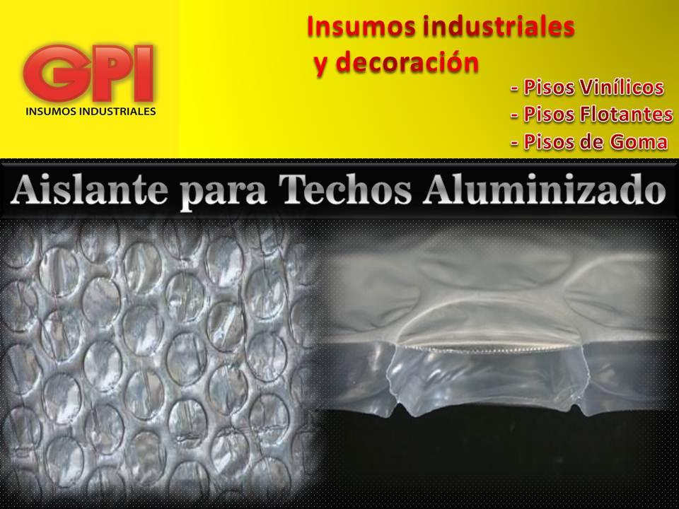 Aislante Termico Aluminizado Teja Chapa Burbuja Rollo 20 m2