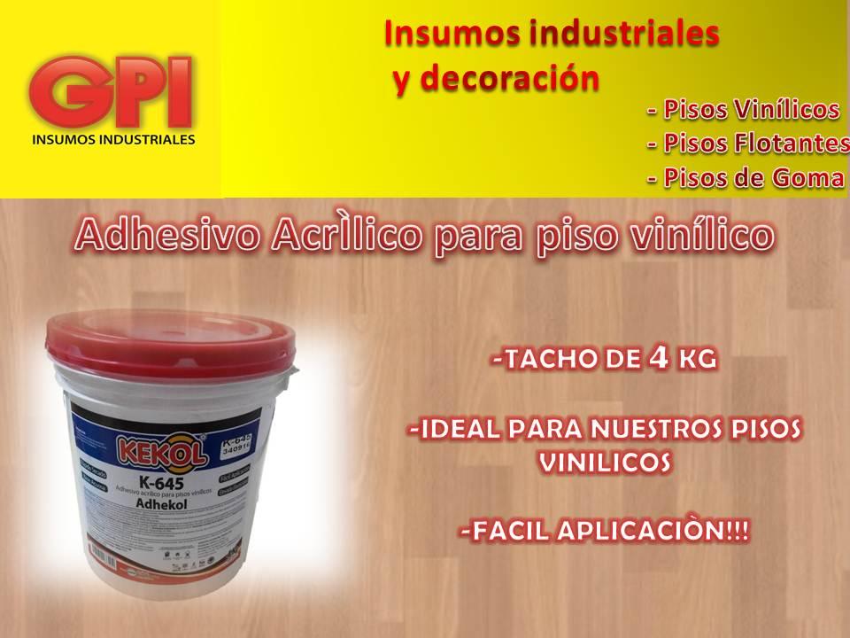 Adhesivo acr lico piso vinilico kekol tacho de 4 kg g p i - Adhesivo piso vinilico ...